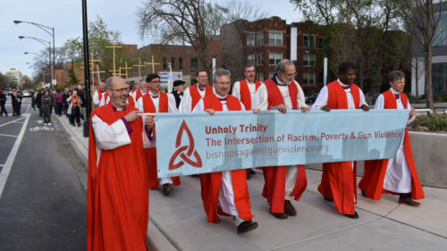 Public procession for Unholy Trinity in Chicago