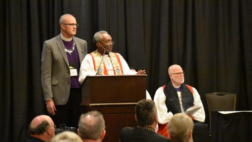 Michael Curry presides