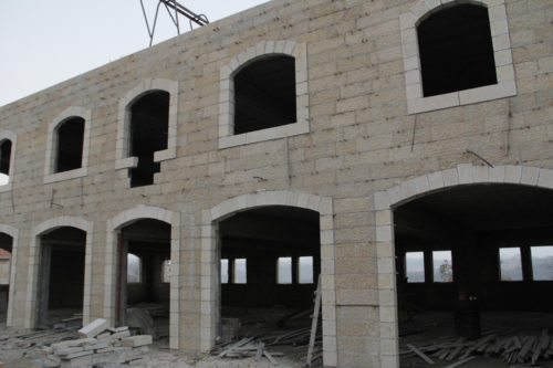 A 40-bed elder care and community center is under construction on the site of St. Peter's Church in Birzeit, a suburb of Ramallah. ENS Photo/ ENS Photo/Lynette Wilson