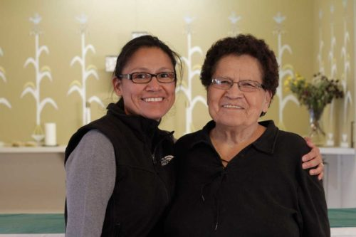 Deacon Cornelia Eaton and her mother, Alice Mason, a longtime lay minister who served St. Michael's in Upper Fruitland, New Mexico.  Many of the Episcopalians in Navajoland can trace their church membership back generations. ENS Photo/Lynette Wilson