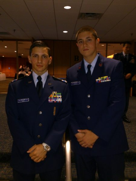 Glenn Camilo, right, shown here with his best friend David Dovi, was one of two teens from the Episcopal Diocese of Southeast Florida to attend the Jan. 21 presidential inauguration as part of a high school leadership conference.