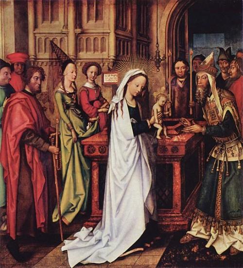 Presentación de Cristo en el Templo de Hans Holbein el Viejo (1500-01) (Galería de Arte, Hamburgo). Tomado del Proyecto Yorck: 10.000 obras maestras de la pintura. Distribuido por DIRECTMEDIA Publishing GmbH.
