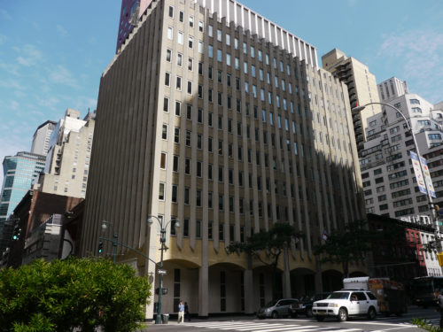 The Episcopal Church Center at 815 Second Ave. in New York would remain the denomination's headquarters under a recommendation being considered by the Executive Council. ENS photo/Mary Frances Schjonberg