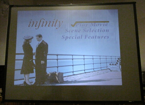 """The film series began with a showing of """"Infinity,"""" which depicts the early life of physicist Richard Feynman and his wife, Arline. Photo/Sharon Sheridan"""