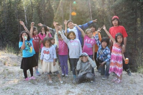 Children and youth gathered last June at Kingfisher Lake in northern Ontario to celebrate the creation of the Anglican Church of Canada's first indigenous diocese. Photo: Anglican Video