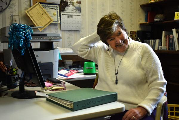 Linda Barber in her office