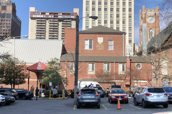 Calvary Episcopal Church parking lot