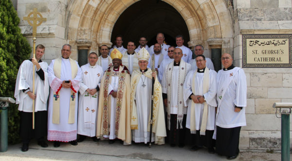 Gathering of deacons and clergy