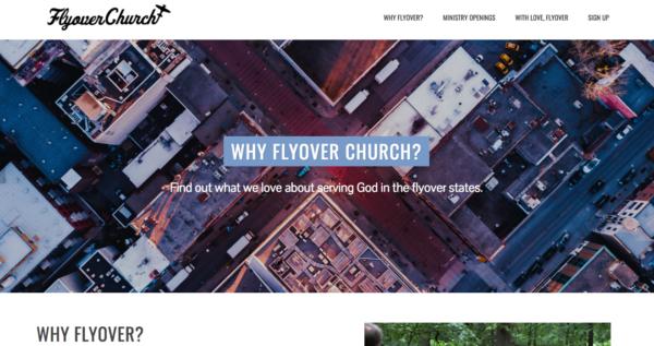 Flyover Church website