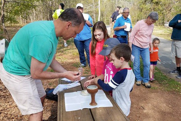 Holy Hikes Eucharist in Greenville