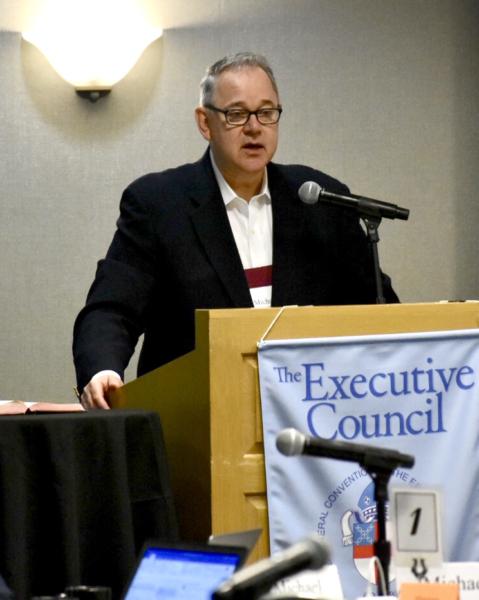 Michael Barlowe at Executive Council