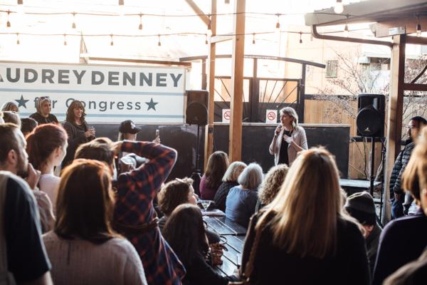 Audrey Denney campaign event