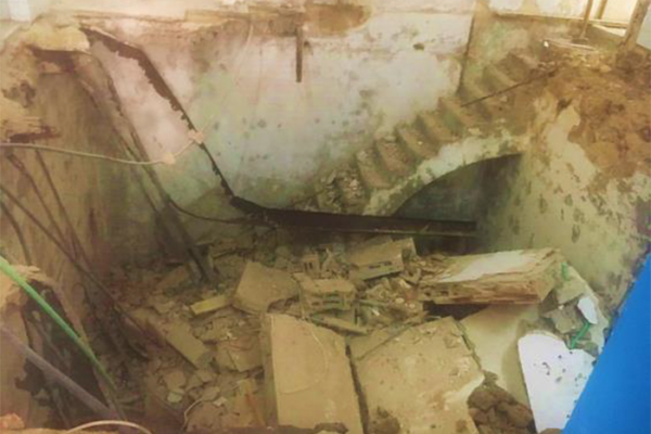 Gaza clinic collapse