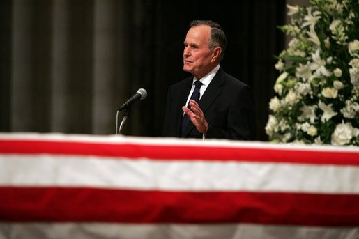 Bush at Reagan funeral