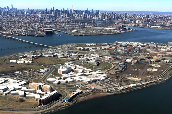 Rikers Island from above