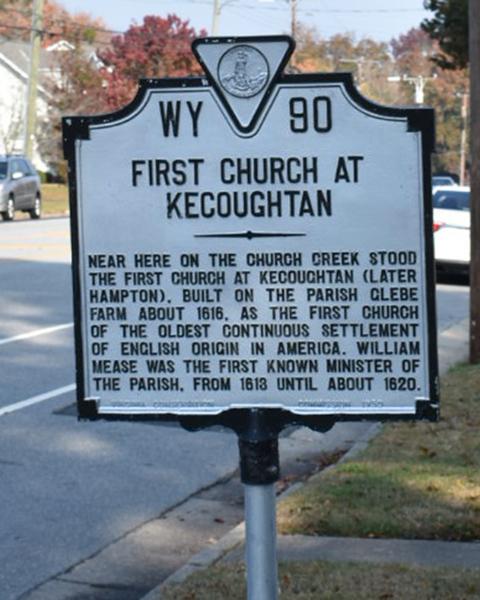 Kecoughtan marker